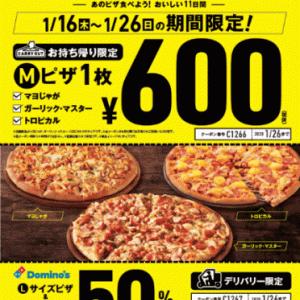 お持ち帰りピザ 限定600円