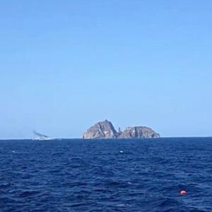 独島でヘリコプター墜落