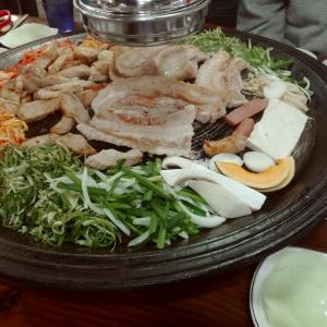 솥뚜껑(釜蓋) 焼肉