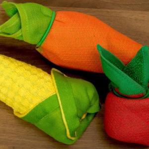 可愛い野菜タオル「折り巻きタオル」 海外の反応