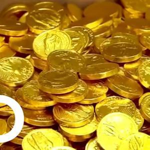 チョコレートコインの作り方 海外の反応