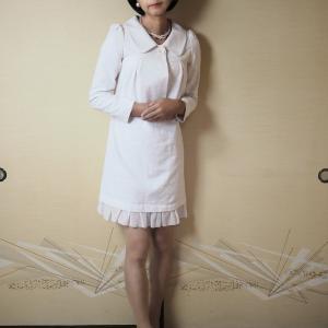 自宅で一人遊び(119) 蔵出し画像(22) レトロ清楚な入学式のお母さん ウズベクファッション