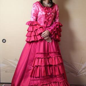 自宅で一人遊び(145) 20年1月(7)ちょっとチマチョゴリみたいな雰囲気のハンドメイドドレス