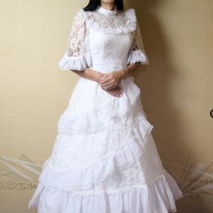 自宅で一人遊び(223) 20年7月(10)清楚な雰囲気の髪飾りをドレスに合わせてみた
