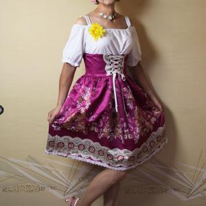 自宅で一人遊び(230) 20年8月(6)ドイツ南部「ディアンドル」っぽいロリータドレス