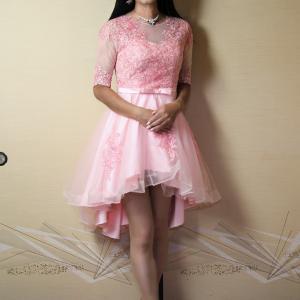 自宅で一人遊び(232) 20年8月(8)製造ミスの格安フィッシュテールドレスをハサミで・・・