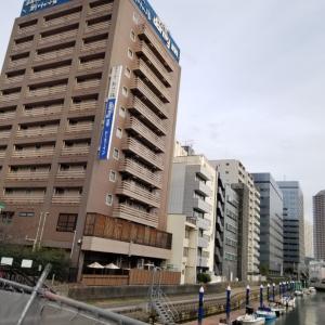 病院前泊は亀島川温泉 ドーミーイン東京八丁堀