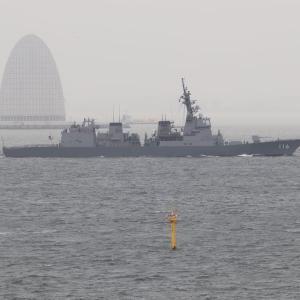 10/14 中国海軍052D型駆逐艦「太原」、東京来航