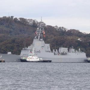 10/20 豪海軍ミサイル駆逐艦「ホバート」、横須賀出港