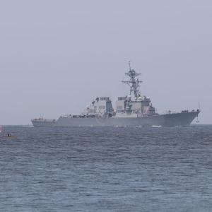 6/11 米海軍ミサイル駆逐艦「ベンフォルド」浦賀水道南航