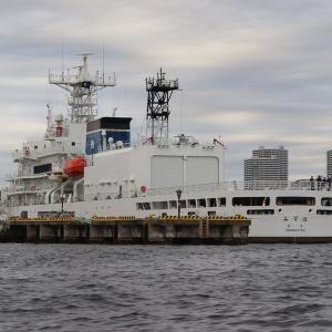 横浜港に寄航した巡視船「みずほ」(PLH-41)
