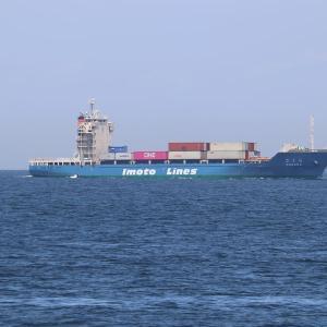 井本商運のコンテナ船「さくら」