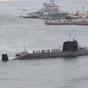潜水艦「おやしお」型、横須賀入港