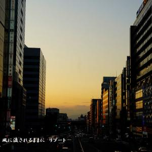 大阪・阿倍野歩道橋から見た夕景