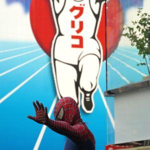 道頓堀にスパイダーマン現る!?