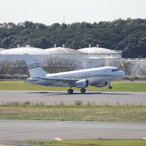 10月下旬その2⑦(コンステレーション・アヴィエーション・サービシーズのA318-100CJ)