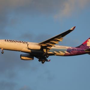 3月下旬その2⑲(ハワイアン航空のA330-200)