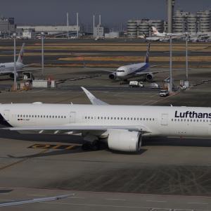 3月初旬その2④(ルフトハンザ・ドイツ航空のA350-900)