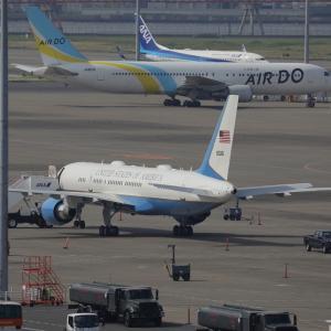 """5月下旬⑦(アメリカ空軍所属のB757-200""""C-32"""")"""