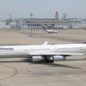 6月初旬その1①(ルフトハンザ・ドイツ航空のA340-300)