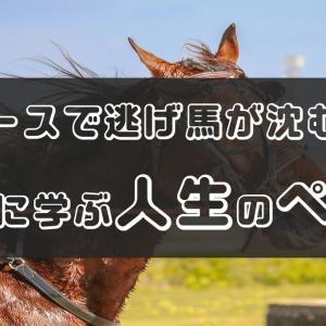 ハイペースで逃げ馬が沈むレース   競馬に学ぶ人生のペース