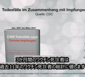 Germany and EU ドイツとヨーロッパのワクチンの悲劇-拡散希望:報道番組(動画)