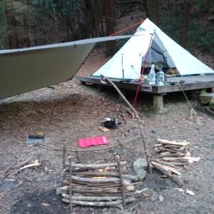 真冬のバックパックソロキャンプ
