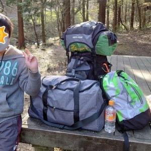 息子と二人きりの夜だけキャンプ
