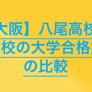 【高校受験2020】八尾高校の併願校の大学合格実績を比較