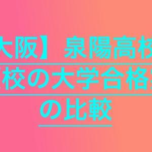 【高校受験2020】泉陽高校の併願校の大学合格実績を比較