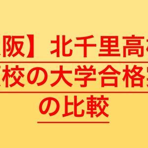 【高校受験2020】北千里高校の併願校の大学合格実績を比較
