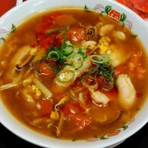 DAY7✨七日目✨餃子の王将 酸辣湯麺 & スゴ辛チキン & ごま団子 食べてみたw