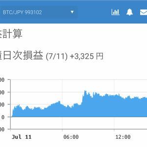 7月10日〜7月12日  +47,427円 タクヤのオレ的自動売買速報☆