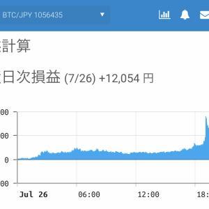 7月25日〜7月27日  +69,055円 タクヤのオレ的自動売買速報☆