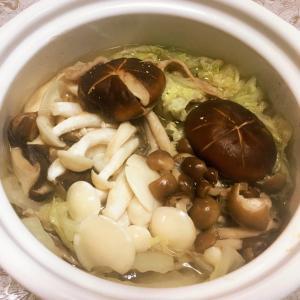 #168 キノコと白菜の鍋