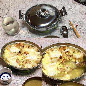 #171 焼き鳥のキノコと玉ねぎの卵とじ