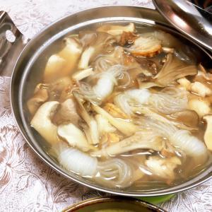 肴63品目 エリンギと帆立の一人鍋