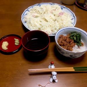 374 素麺をツナ缶で食べる