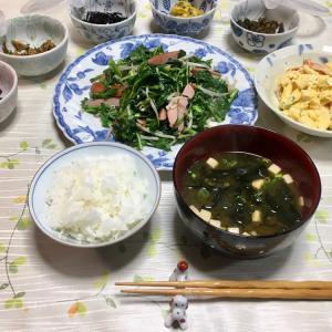 621 つぼみ菜とウインナーの炒め物