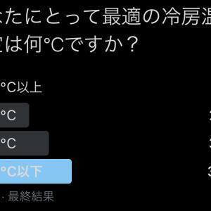 【アンケート!】あなたにとって最適の冷房温度設定は何℃ですか?