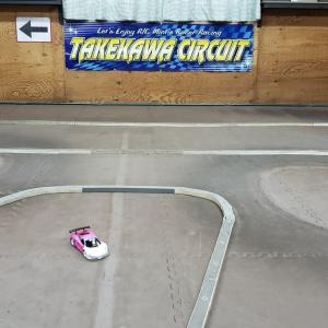 【Mini-Z】竹川サーキットへ行き、1/8エンジンバギーのタケカワスペシャルを見せて頂きました♪