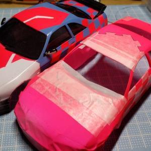 【Mini-Z】ナローのボディ(R33 GT-R)のウィンドウパーツの浮き具合を確認してみた!