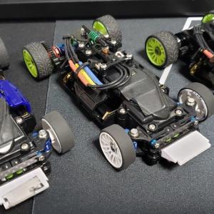 ナロー3台を同一仕様にて作成   ~次回走行で、ボディを比較~