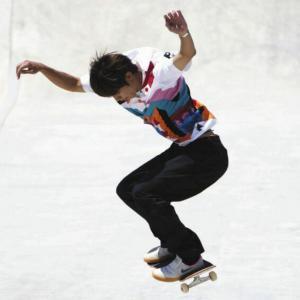 堀米雄斗が金メダル 五輪新種目のスケートボード男子ストリート