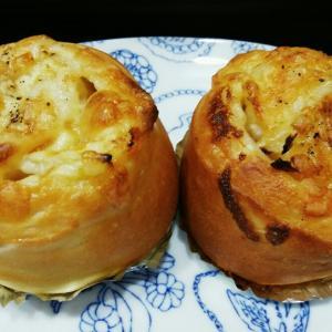 ハムとオニオンのお惣菜パン