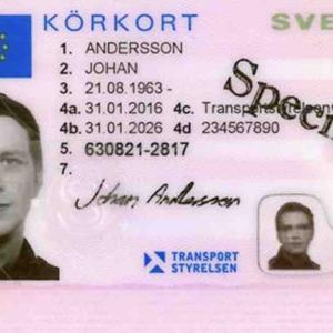 スウェーデンの運転免許証