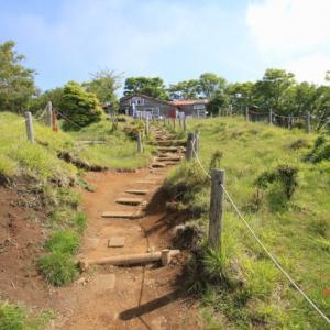 トレイルの木段の下り方