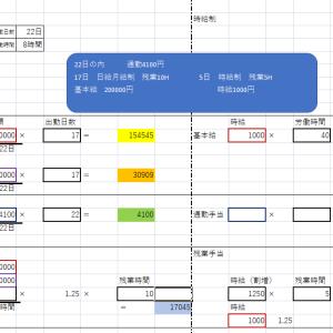 給与計算 エクセルを使って日割り計算を簡素化