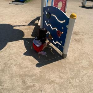 娘と公園に行ってきましたが、、