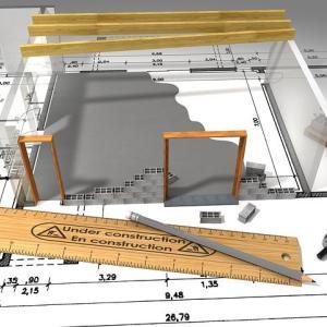 我が家の図面。「2D & 3D」
